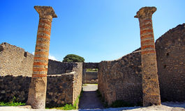 Ruins of Ancient Pompeii. In Italy Royalty Free Stock Photo