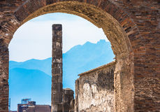 Ruins of ancient Pompeii, Italy Royalty Free Stock Image