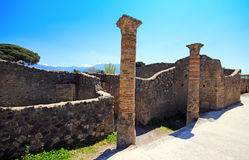 Ruins of Ancient Pompeii. In Italy Royalty Free Stock Images
