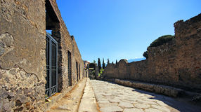 Ruins of Ancient Pompeii. In Italy Stock Photography