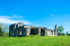 The ruins of the ancient princely Palace in the village of Lykhn Royalty Free Stock Photo