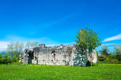 The ruins of the ancient princely Palace in the village of Lykhn Stock Images