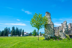 The ruins of the ancient princely Palace in the village of Lykhn Stock Image