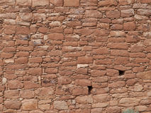 Ruins of ancient pueblos in desert canyon. The stone ruins of ancient pueblo settlements built on the edges of red rock canyons at Hovenweep National Monument Stock Photos
