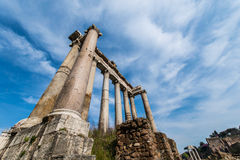 Ruins in ancient Roma Royalty Free Stock Photo