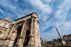 Ruins in ancient Roma Royalty Free Stock Image