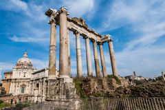 Ruins in ancient Roma Stock Photos