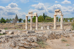 Ruins on ancient roman acropolis Stock Photography