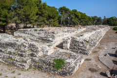 Ruins of ancient Roman ampheteater in Syracuse, Sicily Stock Image