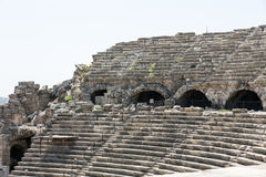The ruins of  ancient Roman amphitheatre in Side. Stock Image