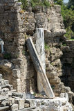 The ruins of  ancient Roman amphitheatre in Side Royalty Free Stock Image