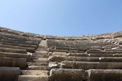 The ruins of  ancient Roman amphitheatre in Side. Royalty Free Stock Photos