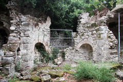 Ruins in Olimpos. Ruins of ancient roman bath in Olimpos, Turkey Royalty Free Stock Images