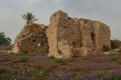 Ruins of the ancient Roman city of Caesarea, Israel Royalty Free Stock Images