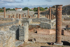 Ruins of the ancient Roman city of Conimbriga royalty free stock images