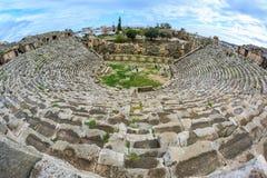 The ruins of the ancient roman city of Myra. The ruins of the theater in the ancient roman city of Myra, Turkey Royalty Free Stock Photography