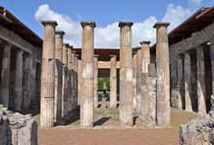 Ruins of ancient Roman city of Pompeii Stock Images