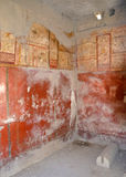 Ruins of ancient Roman city of Pompeii. East wall of Laundry of Stephanus stock photos