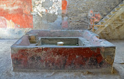 Ruins of ancient Roman city of Pompeii Stock Image