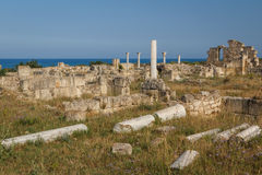 Ruins of the ancient Roman city of Salamis, North Cyprus Royalty Free Stock Photography