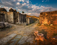 Ruins of Ancient Roman City Salona near Split, Croatia Stock Images