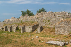 Ruins of the ancient Roman city of Solin (Salona) Royalty Free Stock Photo