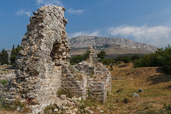Ruins of the ancient Roman city of Solin (Salona) Royalty Free Stock Photos