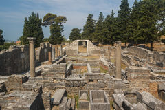 Ruins of the ancient Roman city of Solin (Salona) Stock Photos