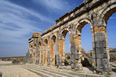 The ruins of the ancient Roman city of Volubilis, Morocco Stock Photography