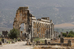 The ruins of the ancient Roman city of Volubilis, Morocco Stock Images