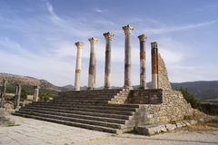 The ruins of the ancient Roman city of Volubilis, Morocco Royalty Free Stock Images