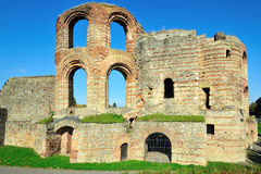 Ruins of ancient Roman Imperial Baths in Trier Stock Photography