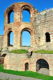 Ruins of ancient Roman Imperial Baths in Trier Royalty Free Stock Photography