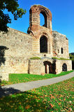 Ruins of ancient Roman Imperial Baths in Trier Royalty Free Stock Photo