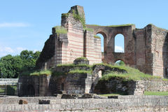 Ruins of ancient Roman Imperial Baths in Trier Royalty Free Stock Photos