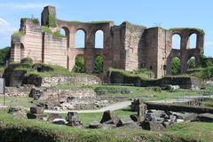 Ruins of ancient Roman Imperial Baths in Trier. A city in Germany Royalty Free Stock Images