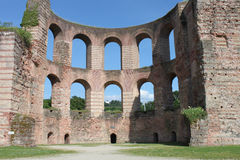 Ruins of ancient Roman Imperial Baths in Trier Stock Photo