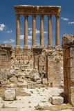 Ruins of the ancient Roman sacred site Baalbek Stock Photography