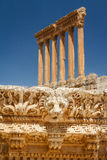Ruins of the ancient Roman sacred site Baalbek Stock Images