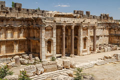 Ruins of the ancient Roman sacred site Baalbek Royalty Free Stock Image