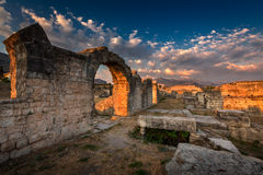 Ruins of Ancient Roman Salona Solin near Split, Dalamatia, Cro Royalty Free Stock Images