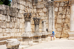 Ruins of ancient Roman temple Royalty Free Stock Images
