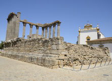 Ruins of an ancient Roman temple Royalty Free Stock Image