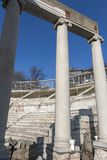 Ruins of Ancient Roman theater of Philippopolis in city of Plovdiv, Bulgaria. Amazing ruins of Ancient Roman theater of Philippopolis in city of Plovdiv stock photo