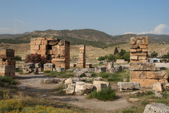 Ruins on ancient roman town Royalty Free Stock Photography
