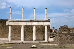 The ruins of the ancient Roman town-city of Pompei Stock Photos