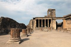 The ruins of the ancient Roman town of Pompei Stock Photos