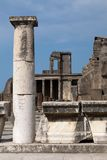 The ruins of the ancient Roman town of Pompei Royalty Free Stock Photography