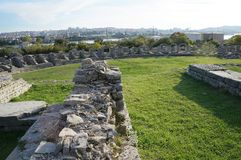 Ruins of ancient roman town Salona near Split Royalty Free Stock Photo
