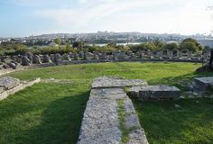 Ruins of ancient roman town Salona near Split Stock Images